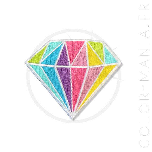 Parche de diamantes en colores pastel multicolor | Color-Mania.fr