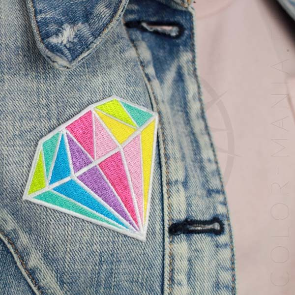 Patch Diamant Pastel Multicolore | Color-Mania.fr
