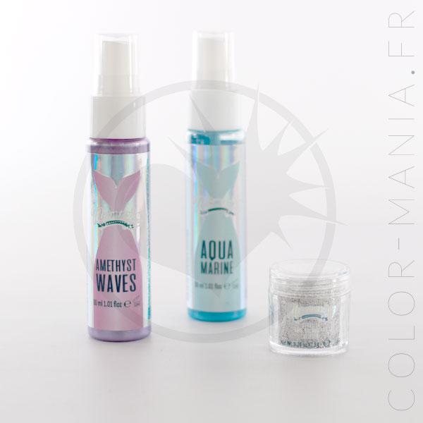 Kit Mermaid Hair Spray & Sequins - Mermaising | Color-Mania.fr