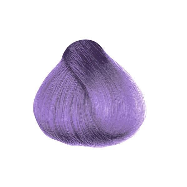 Rendu de laColoration Cheveux Violet Wisteria - Directions   Color-Mania coloration violet lilas Wisteria Directions sur mèche de cheveux