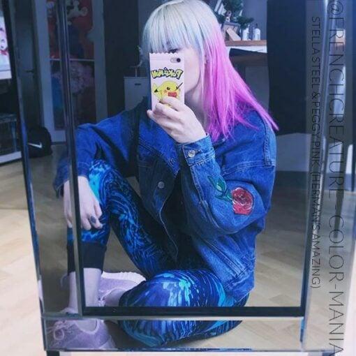 Gracias @frenchcreature_ :) Color de cabello Rose Peggy Pink UV - Herman's Amazing | Color-Mania