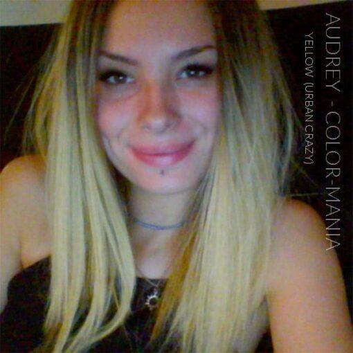 Merci Audrey :) Coloration Cheveux Jaune Yellow - Urban Crazy | Color-Mania