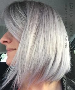 Merci Laura :) Coloration Cheveux Gris Acier Stella Steel - Herman's Amazing | Color-Mania