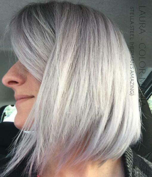 Merci Laura :) Coloration Cheveux Gris Acier Stella Steel - Herman's Amazing   Color-Mania