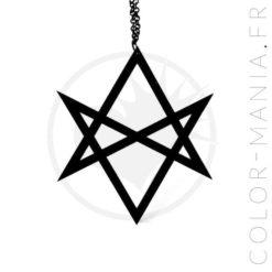 Collier Grand Hexagramme Noir | Color-Mania.fr
