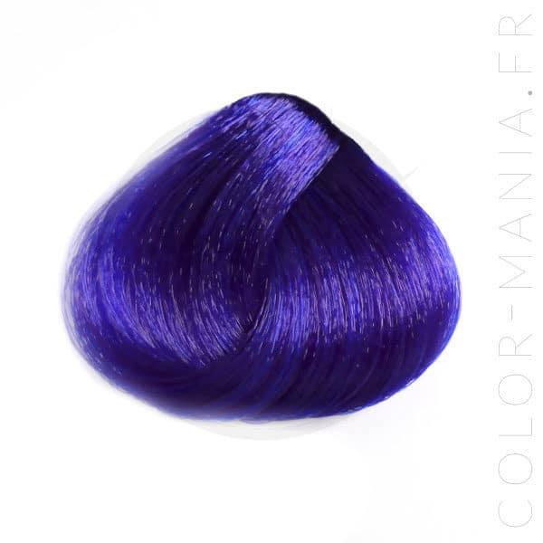 Résultat estimé de la coloration Blue Urban Crazy sur mèche de cheveux