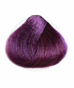 Résultat estimé de la coloration Violet Urban Crazy sur mèche de cheveux