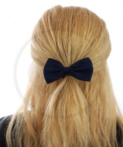 Blue Navy Elastic Hair Bow | Color-Mania
