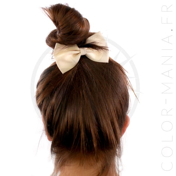 Elastic Hair Bow Ivory | Color-Mania
