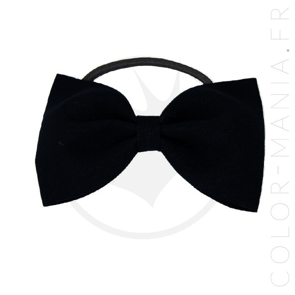 Elastic Hair Bow Black | Color-Mania