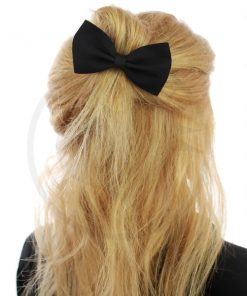 Elastic Hair Bow Black | Color-Mania