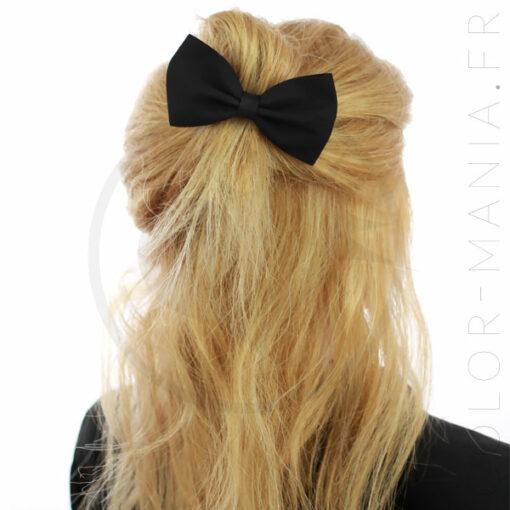 Nœud Cheveux Élastique Noir | Color-Mania
