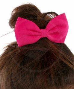 Nœud Cheveux Élastique Rose Fuchsia   Color-Mania