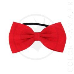 Nœud Cheveux Élastique Rouge | Color-Mania