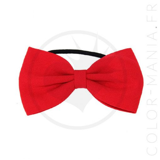 Elastic Hair Bow Red | Color-Mania