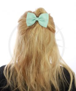 Elastic Green Hair Bow Mint | Color-Mania