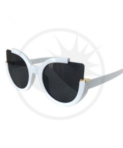 Giovanna Triangle Sunglasses White and Black - Banned | Color-Mania.fr