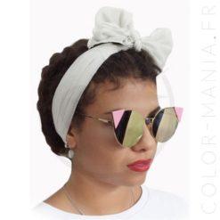 Triángulos Lauren Pink Pastel Gafas de sol - Prohibido | Color-Mania.fr