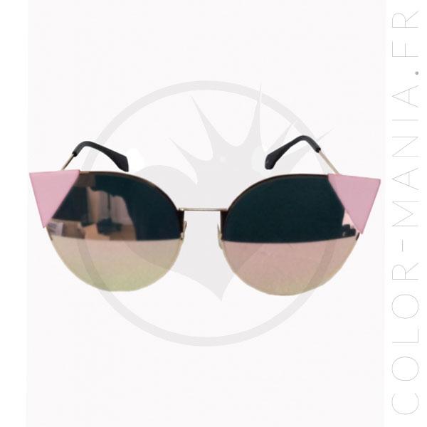 Lunettes de Soleil Triangles Lauren Rose Pastel - Banned | Color-Mania.fr