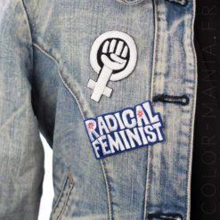 Radical Feminist Patch Blue | Color-Mania