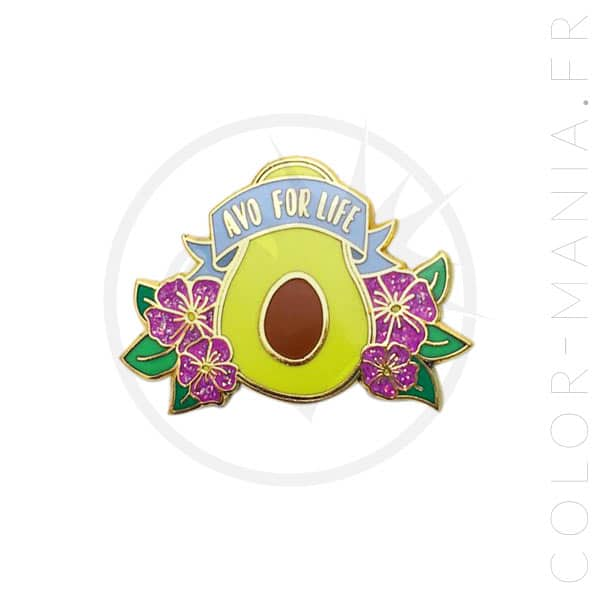 Pin's Avo For Life   Color-Mania.fr