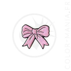 Pin Bowtie Pink Glitter | Color-Mania.fr
