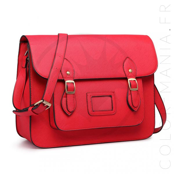 Bolso Satchel Satchel Rojo | Color-Mania.fr