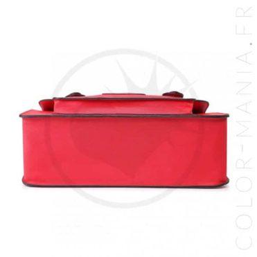 Sac Cartable Satchel Rouge   Color-Mania.fr