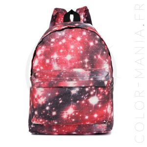Galaxy Red Backpack | Color-Mania.fr