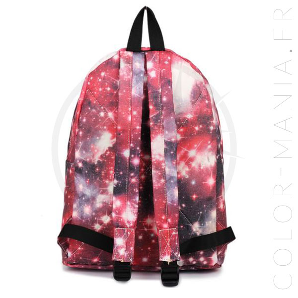 Mochila Galaxy roja | Color-Mania.fr