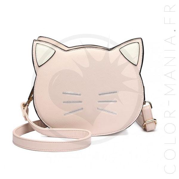Bolso rosa pastel de gato | Color-Mania.fr