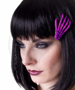 Barrette Main de Squelette Violette - Banned | Color-Mania