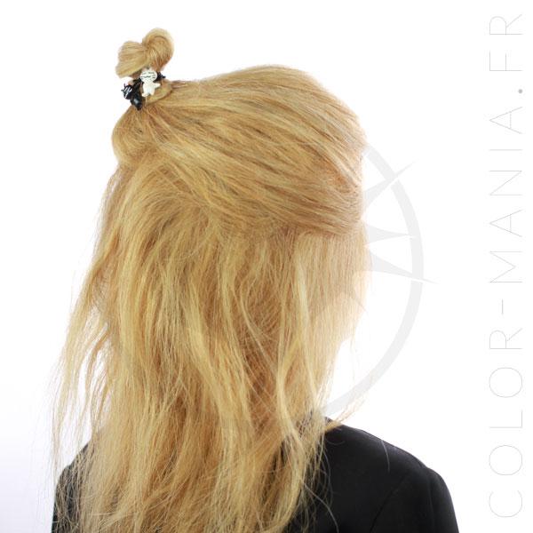 Elástico del pelo Kitty Kawai Blanco y Negro | Color-Mania