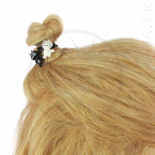 Élastique Cheveux Chatons Kawaï Noir et Blanc | Color-Mania