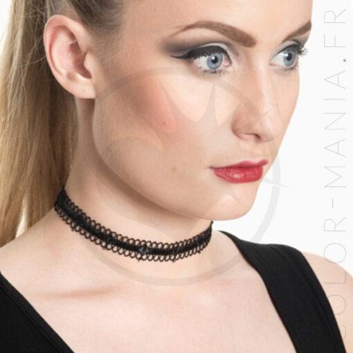 Collana girocollo nera Morgane | Color-Mania