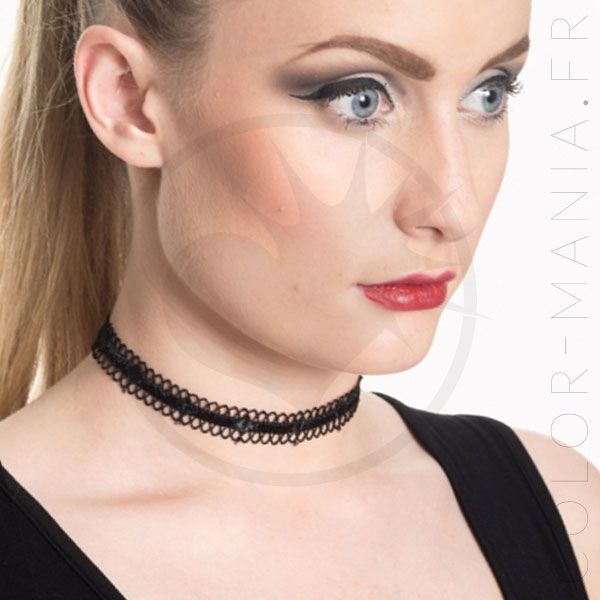 Collar de gargantilla negro de Morgane | Color-Mania