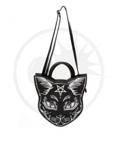 Nemesis Mystic Cat Handbag Black - Prohibido | Color-Mania.fr