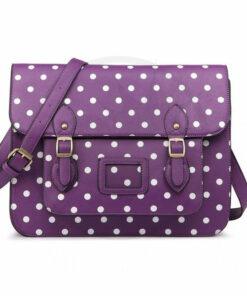 Borsa a tracolla Purple Dot Satchel Color-Mania.fr