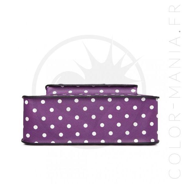 Color Pois Satchel Cartable Sac Violet à IwnqgqXfC