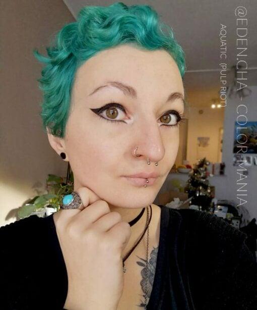 Merci @eden.cha :) Coloration Cheveux Bleu Aquatic - Pulp Riot | Color-Mania