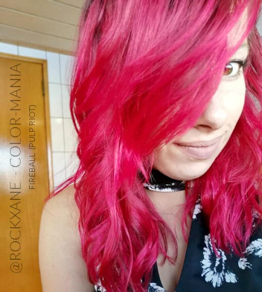 @rockxane :) Coloration Cheveux Rouge Fireball - Pulp Riot | Color-Mania