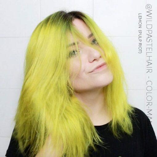 Merci @wildpastelhair :) Coloration Cheveux Jaune Lemon - Pulp Riot | Color-Mania