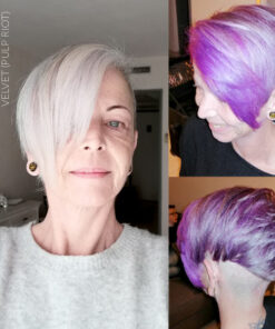 Merci Alexandra :) Coloration Cheveux Violet Velvet - Pulp Riot - Sur cheveux blancs | Color-Mania