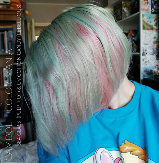 Merci Camdol :) Coloration Cheveux Vert Seaglass - Pulp Riot | Color-Mania