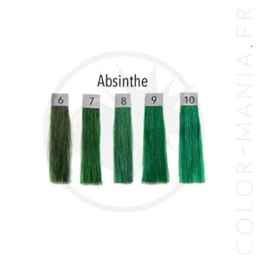Colore dei capelli Assenzio verde - Ripple di polpa | Color-Mania.fr