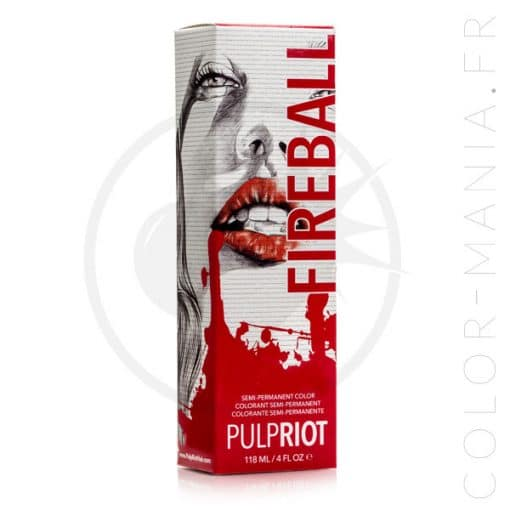 Coloration Cheveux Rouge Fireball - Pulp Riot | Color-Mania.fr