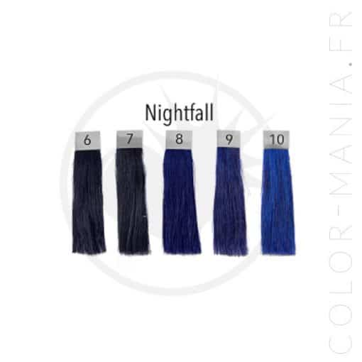 Coloration Cheveux Bleu Nightfall - Pulp Riot | Color-Mania.fr