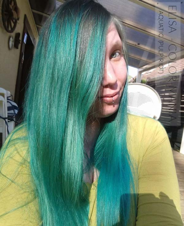 Gracias Elisa :) Hair Color Blue Aquatic - Pulp Riot | Color-Mania