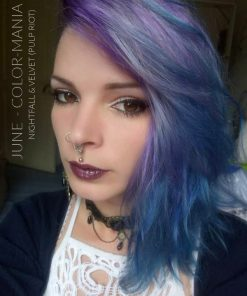 Merci June :) Coloration Cheveux Bleu Nightfall - Pulp Riot | Color-Mania