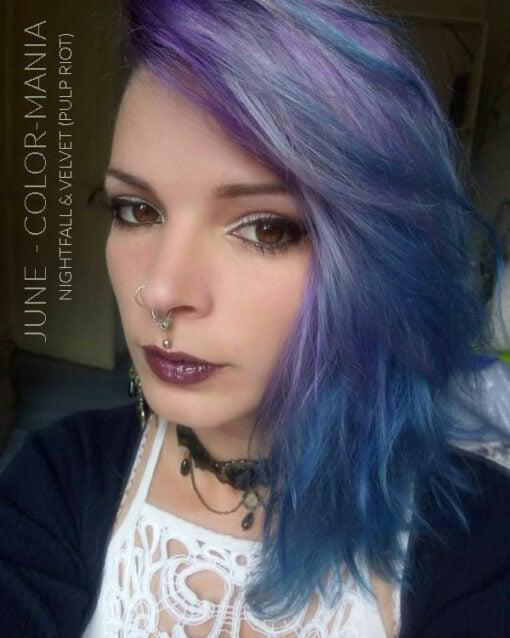 Merci June :) Coloration Cheveux Bleu Nightfall - Pulp Riot | Color-Mania